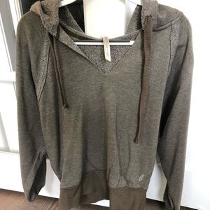 Free People Movement Army Green Hoodie